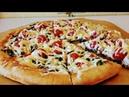 FARSH VA ISMALOQDAN PITSA/ Пицца с фаршем и шпинатом/ Pizza with minced meat and spinach