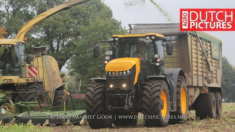 Maishäckseln 2017   JCB Fastrac 8330   Krone Big X 850   LU Deeters, Lingen   Mais hakselen   Maize