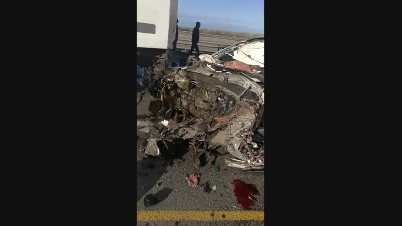 15.11.2018г. Авария на трассе м4 дон в районе Верхнего Мамона на 713км