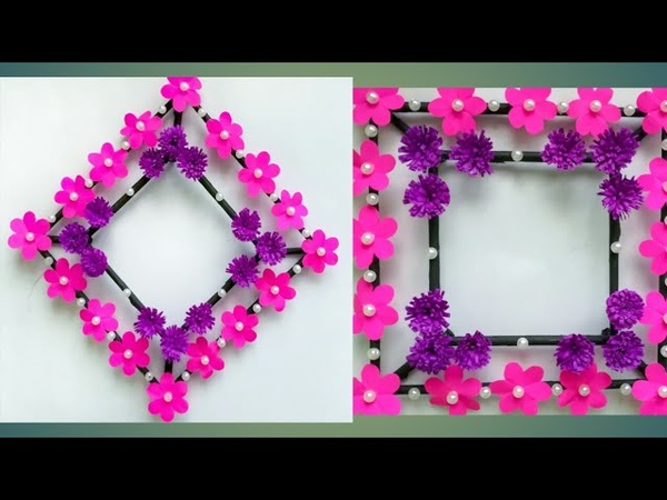 Diy paper flower wall hanging /Simple and beautiful wall hanging/Wall decoration by KovaiCraft 14