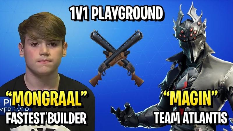 Mongraal vs Magin - Pro 1v1 Playgrounds (Fastest Builder vs Team Atlantis)