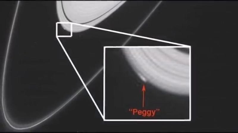 The latest images of the Cassini Probe show a mysterious object in the Rings of Saturn