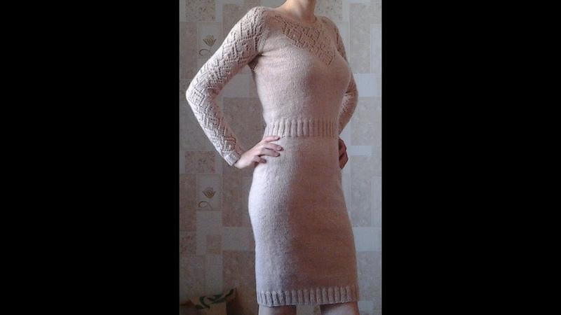 Платье спицами по мотивам VICTORIAS SECRET часть 2, распределяем ажур по переду, рукава