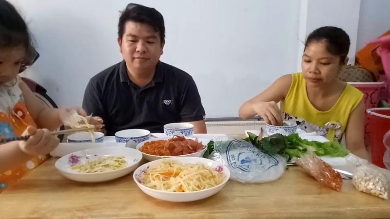 Gia Đình Vui Vẻ - Bò Bía Sài Gòn - Món Ngon Mỗi Ngày