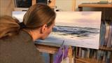 Coastal Landscape Painting Time Lapse - Morning Blaze