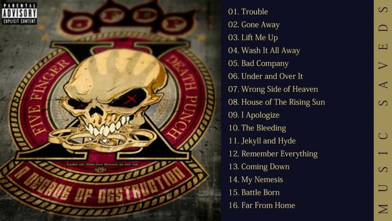 Five Finger Death Punch - A Decade Of Destruction Full Album (2017)