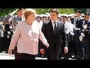 Sorge um Merkel Kanzlerin beginnt bei Zeremonie zu zittern