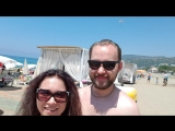 после параглайдинга приземлились на пляж Клеопатры