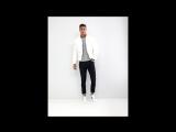 Белая дутая куртка с воротником-стойкой
