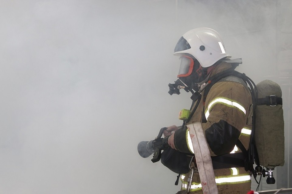 В Даусузе загорелся продуктовый магазин