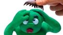 POP CARTOONS - HAIR LOSS GOING BALD - PLAYDOH CARTOON FOR KIDS
