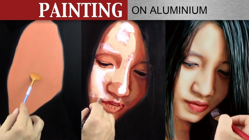 OIL PAINTING ON ALUMINIUM ✦ PORTRAIT ART DEMO VIDEO ✦ From flat colours to photo realism annotated