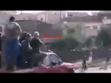 Колонна ополченцев на пути в Кунейтру