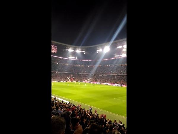 Football. Bundesliga. Bavarias goal celebration at Allianz Arena!
