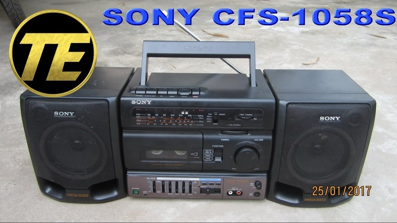 Cassette How to clean Radio cassette corder Sony CFS 1058S