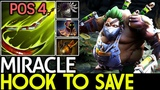 Miracle- Pudge Hook To Save Pos 4 Game Play 7.18 Dota 2