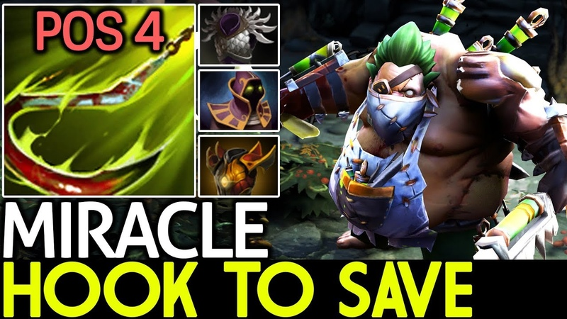 Miracle- [Pudge] Hook To Save | Pos 4 Game Play 7.18 Dota 2