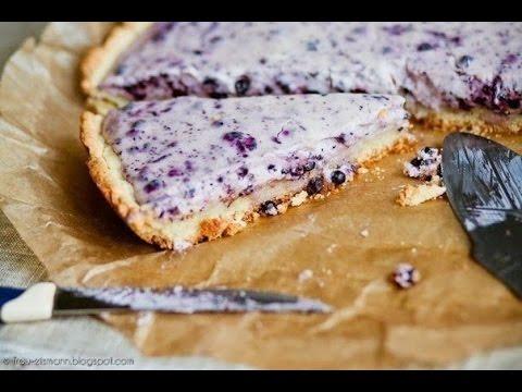 Черничный пирог с творогом
