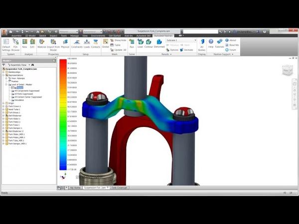 Расчет на усталостную прочность с помощью Autodesk Nastran In-CAD