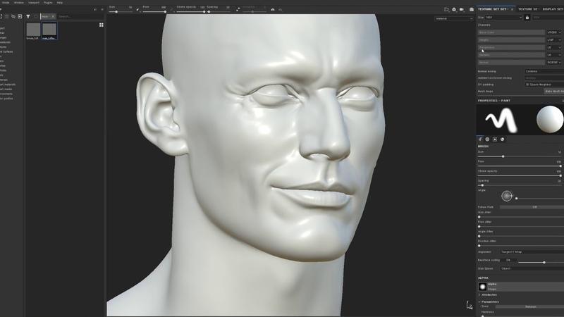 2.Making David Gandy Likeness_Substance Painter