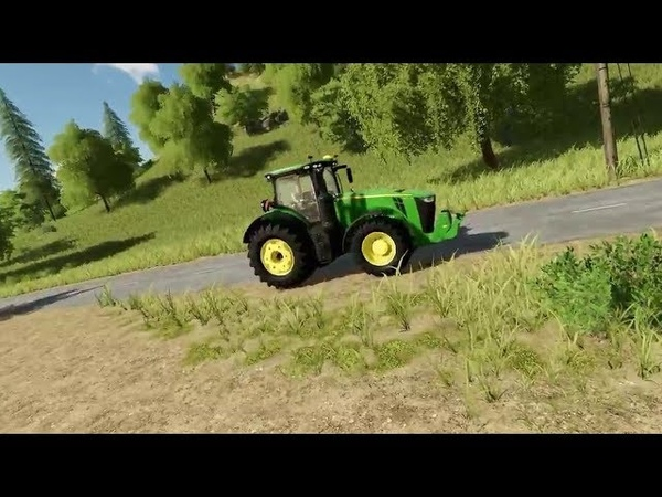 Farming Simulator 19 - демонстрация трактора John Deere 8400R