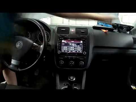 VW Golf V 1.6 BSE магнитола из Китая 2din ISUDAR