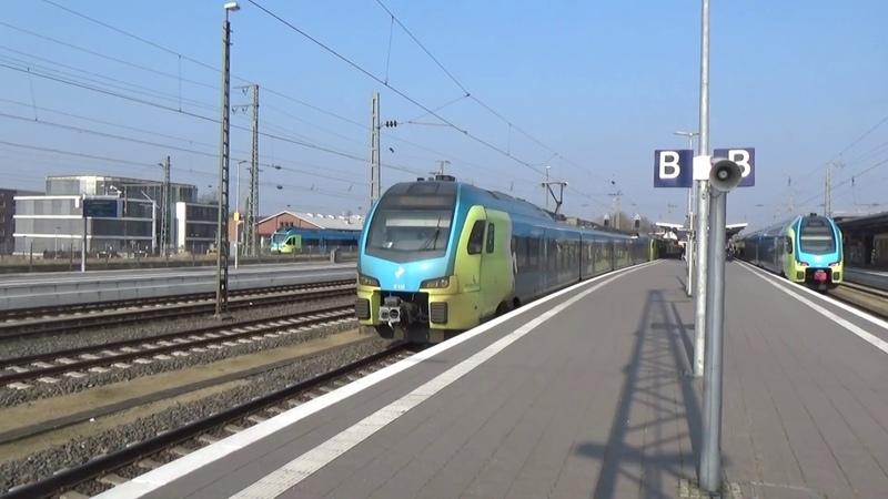 WFB Flirts ET 412 413 vertrekken in Rheine