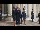 France Trump and Melania leave Elysee Palace ahead of WWI Armistice centenary