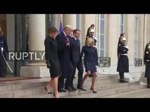France Trump and Melania leave Elysee Palace ahead of WWI Armistice centenary