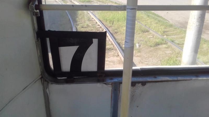 Поездка на трамвае по маршруту №4