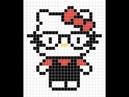 Рисуем по клеточкам 6 Хелло Китти Hello Kitty PIXEL ART