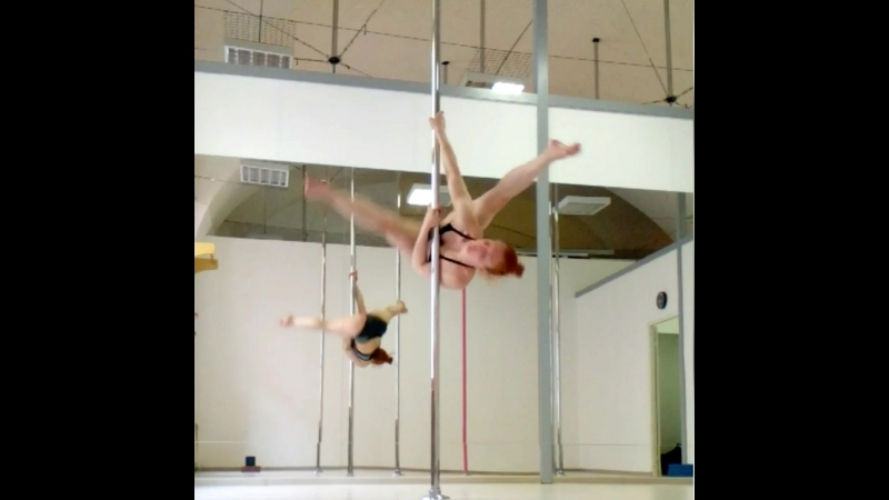 Lyudmila Bukrina. Cartwheel variations. Pole dance tricks | Kat's dance studio