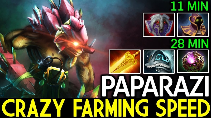 Paparazi [Bristleback] Crazy Farming Speed 28 Min Full Item 7.18 Dota 2