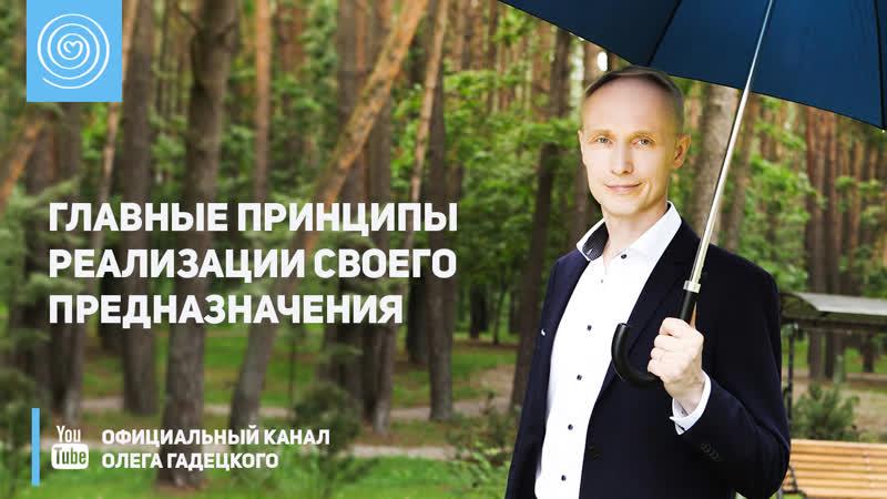 Главные принципы в реализации своего предназначения Реализация предназначения Олег Гадецкий