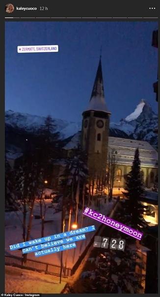Кейли Куоко с мужем Карлом Куком наверстывают пропущенный медовый месяц в Швейцарии 33-летняя актриса Кейли Куоко и ее муж Карл Кук наконец-то смогли отправиться в романтическое путешествие,