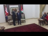 Prince William and President Abbas shake hands - another historic moment for the second in.mp4