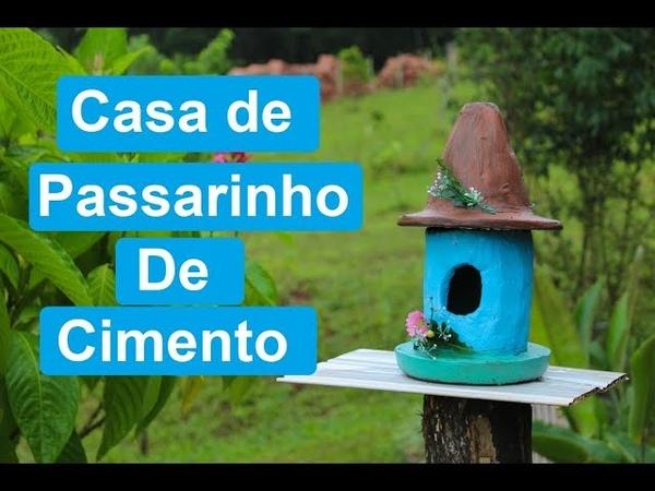 CASA DE PASSARINHO DE CIMENTO