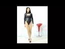 巨乳美少女フェイクレザー レオタード Asian Beauty huge breasts leather Tback leotard Monroe walk