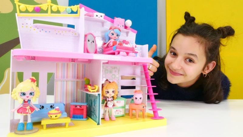 Shopkins oyuncakları. Oyuncak ev düzeltme oyunu!