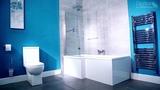 L-Shaped Square Shower Bath