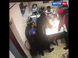 Дерзкое нападение на московский офис попало на видео