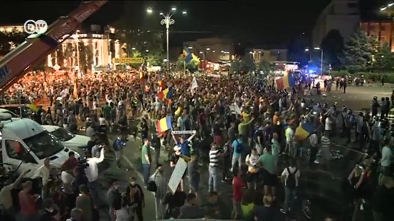 Акция против коррупции в Румынии переросла в серьезные столкновения с полицией. Свыше 400