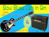 Gm Slow Blues Jam - Gibson Les Paul Standard and Blackstar HT Club 40 Deluxe