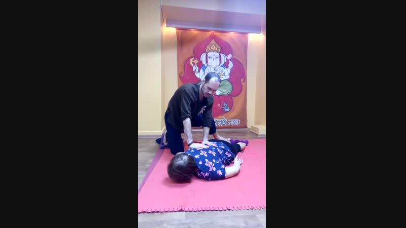 йога массаж вытяжение всей боковой стороны