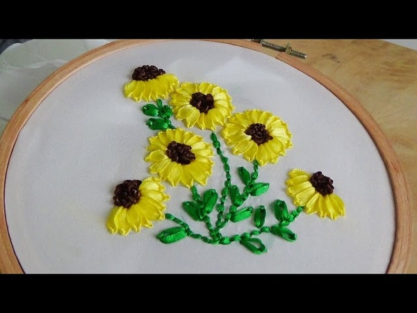 Hand Embroidery Sunflower embroidery