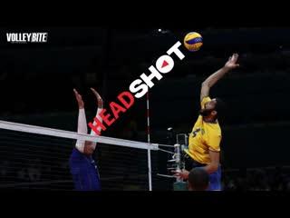 Top 10 head shot. crash in volleyball.