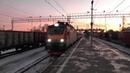 Электровоз ЭП20-035 с поездом № 104 Брянск - Москва