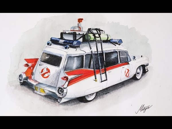 Ecto-1 Ghostbusters vehicle 1959 Cadillac Miller-Meteor