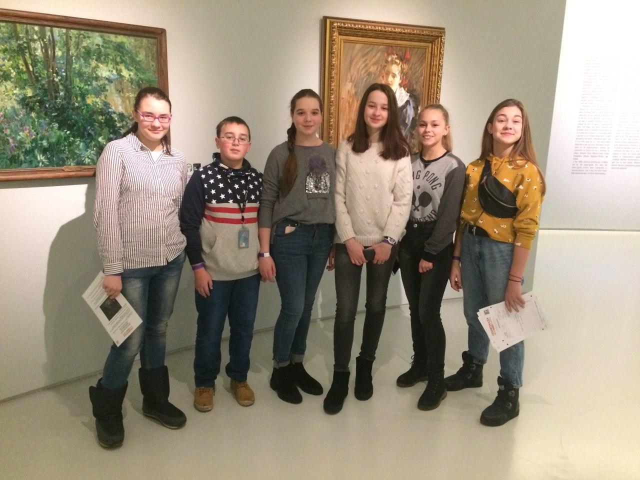 Школьники из Савеловского района побывали в Музее русского импрессионизма