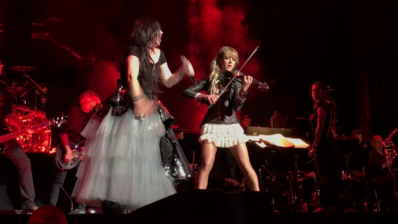 Evanescence Lindsey Stirling - No More Tears Alive (cover) Live (Mansfield 7-18-18)